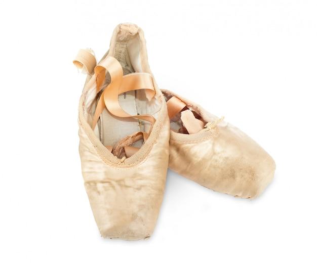 Zapatillas de ballet rosa usadas viejas