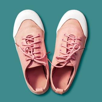 Zapatillas de deporte de color rosa