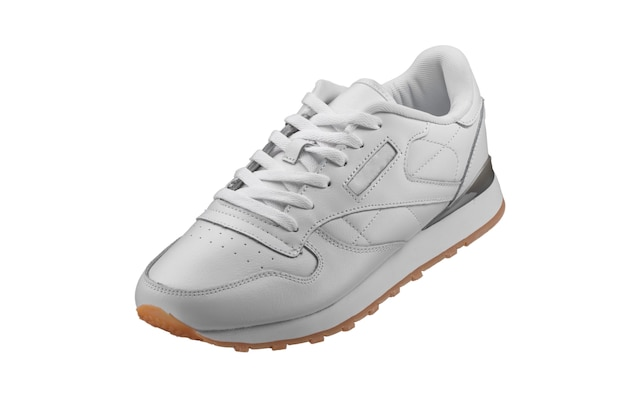 Zapatillas de deporte. zapatilla blanca sobre blanco