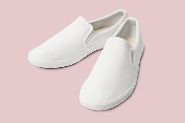 Zapatillas de streetwear unisex sin cordones blancas moda