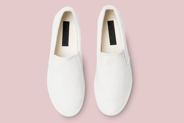 Zapatillas streetwear unisex sin cordones blancas moda