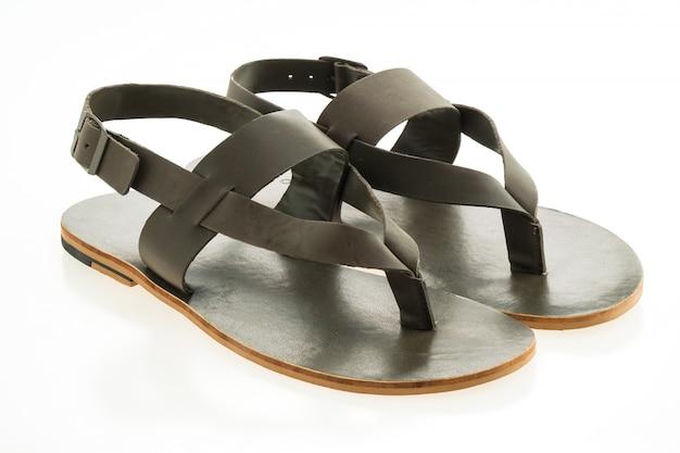 Zapatos de cuero y sandalia