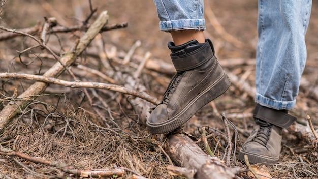 Zapatos de mujer de primer plano