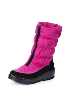 Zapatos para niños aislados en la vista frontal de fondo blanco