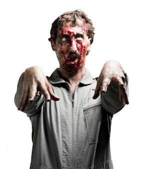 Zombie con la mirada perdida