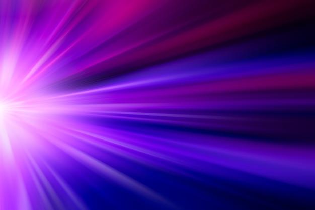Zoom mover efecto rápido del concepto de negocio de alta velocidad abstracto para tono de color azul violeta de fondo