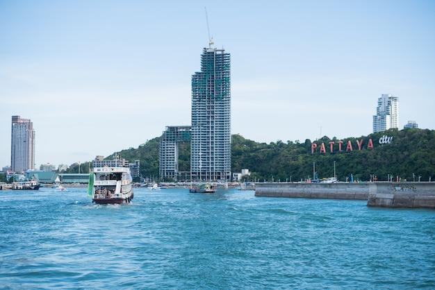05 giugno 2015, vista da pattaya e mare a chonburi, tailandia