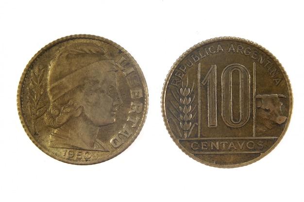 10 monete antiche centavos dell'argentina