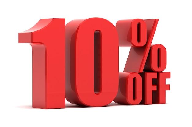 10 per cento di promozione