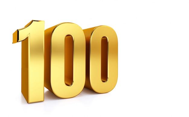 100 ° anniversario, 100 ° compleanno, 100 anni, numero cento d'oro, numero 100, biglietto d'auguri, 100 ° numero