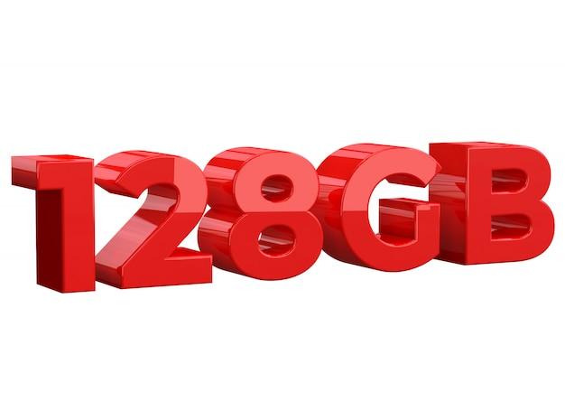 128 gb di capacità di archiviazione