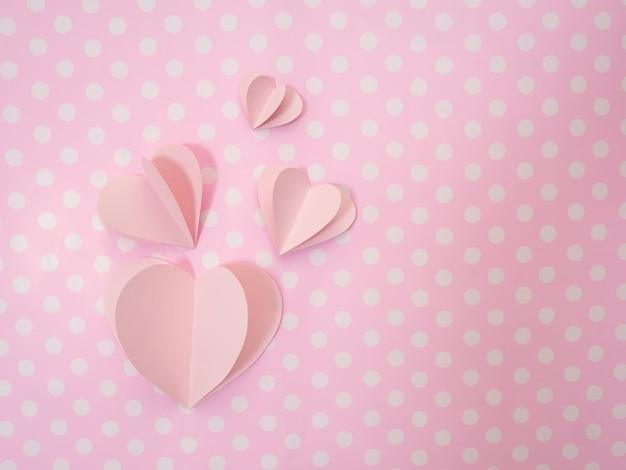 14 cuori rosa valentineâ € ™ s day