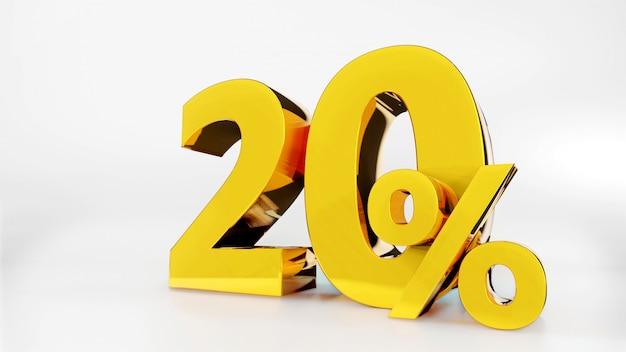20% simbolo d'oro