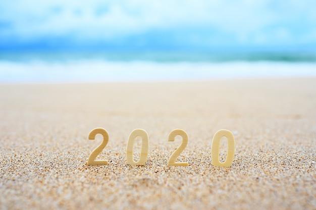 2020 messaggio di benvenuto in spiaggia