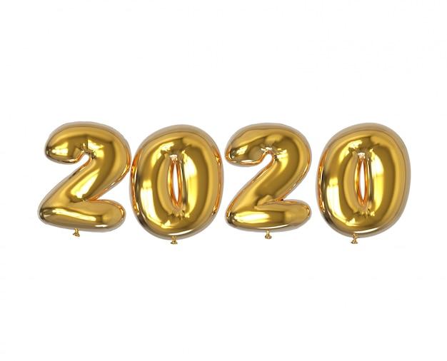 2020 numeri di palloncini d'oro