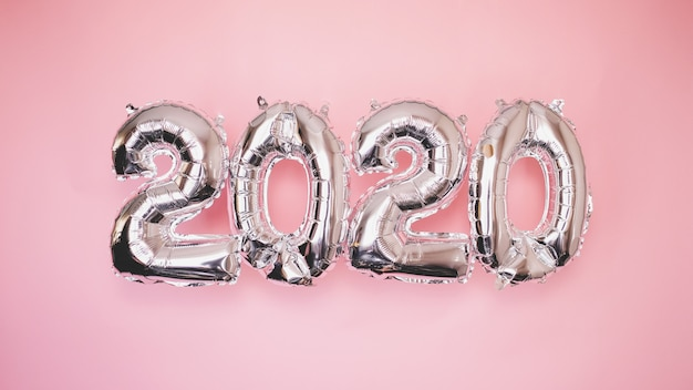 2020 palloncini d'argento
