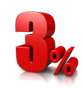 3 percento