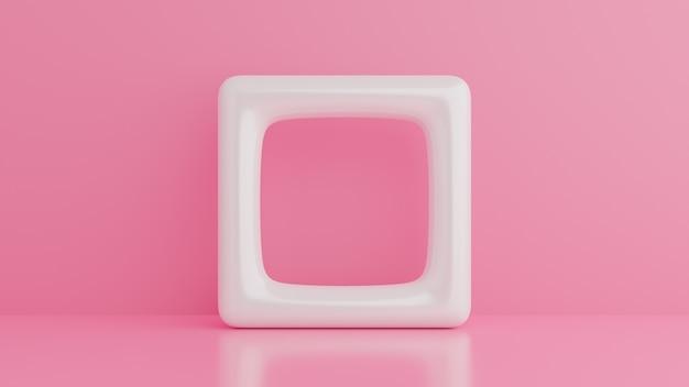 3d astratti rendono, progettazione grafica minimalista e moderna