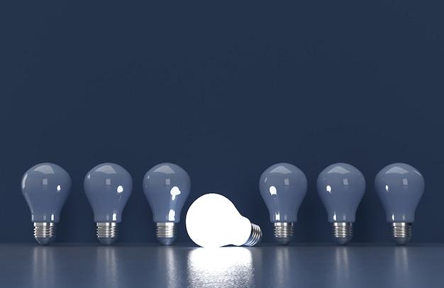 3d astratto che rende concetto della lampadina