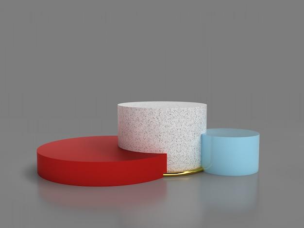 3d astratto che rende fondo geometrico. design minimalista con spazio vuoto.