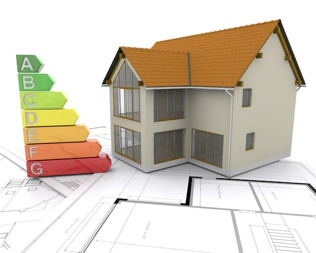 3d casa con le valutazioni di energia