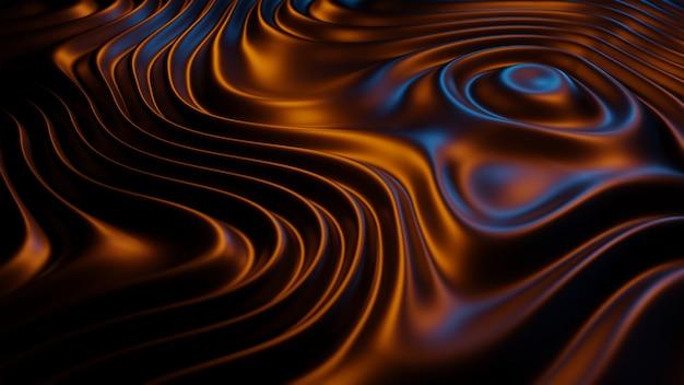 3d che rende struttura astratta sul fondo blu della luce del oraeng, illustrazione 3d.