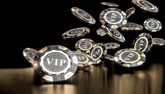 3d chip d'oro gioco d'azzardo