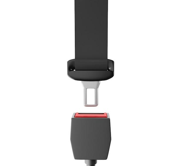 3d close up vista della cintura di sicurezza auto