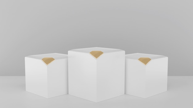3d ha reso l'illustrazione con le forme geometriche con l'oro del diamante