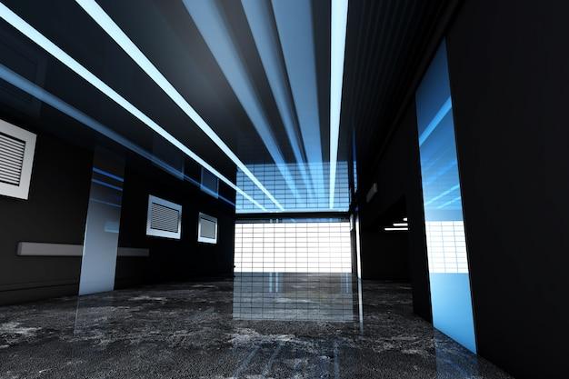 3d ha reso l'illustrazione di un interno industriale