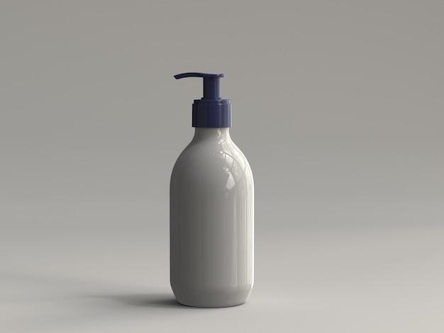 3d ha reso la bottiglia di plastica della pompa senza un'etichetta