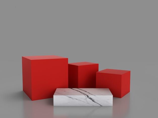 3d minimalista che rende forma geometrica astratta.