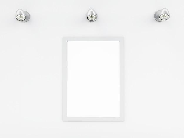 3d modello di cornice vuota con posto per il vostro testo e design