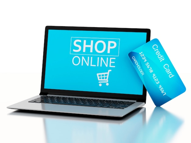 3d pc portatile con carta di credito. acquisto online