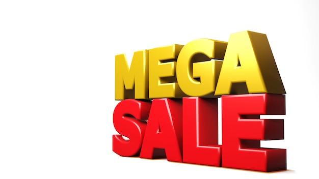 3d render mega vendita isolata on white. illustrazione 3d