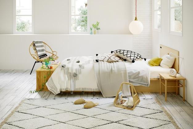 3d rendering camera da letto