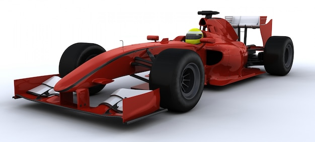 3d rendering di auto f1 racing