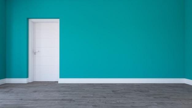 3d rendering di una stanza vuota