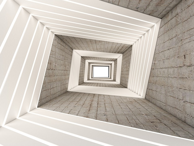 3d rendono dell'estratto in tunnel