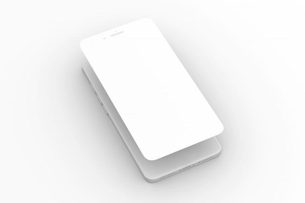 3d rendono dello smartphone in bianco