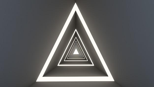 3d rendono di forma astratta del triangolo nel fondo del tunnel