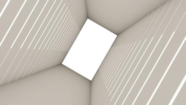 3d rendono di forma astratta di rettangolo nel fondo del tunnel