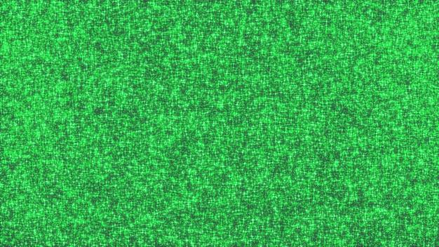 3d rendono di scintillio brillante verde