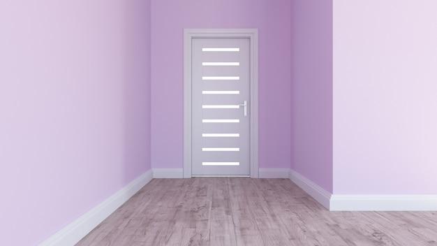 3d rendono di un interno moderno della stanza