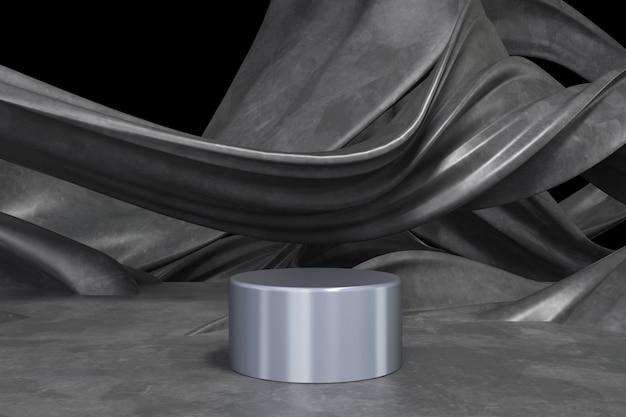 3d rendono il podio vuoto del fondo astratto, il piedistallo, scena