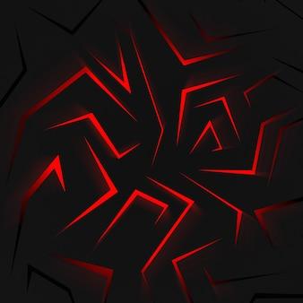 3d rendono la vista superiore della luce rossa astratta del blackwith