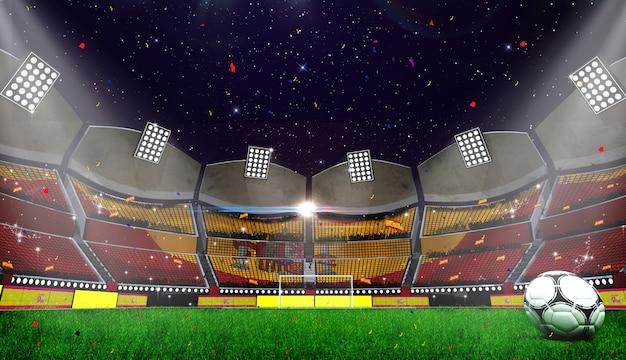 3d rendring della priorità bassa dello stadio