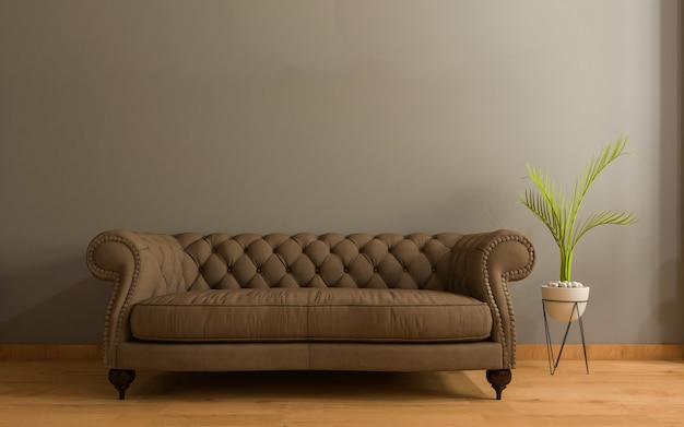 3d soggiorno realistico interno