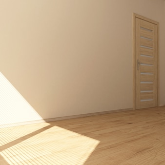 3d stanza vuota contemporanea