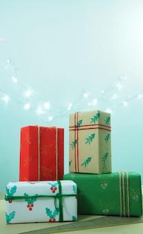 4 confezioni regalo il giorno di natale